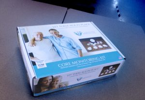 This is a smart caregiver solution or wellness monitor that provides insight into a senior's activity at home or in assisted living communities.